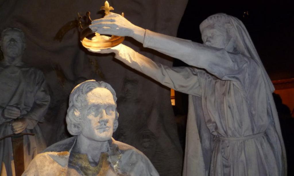 Incoronazione di Robert I Bruce, scultura al castello di Edimburgo