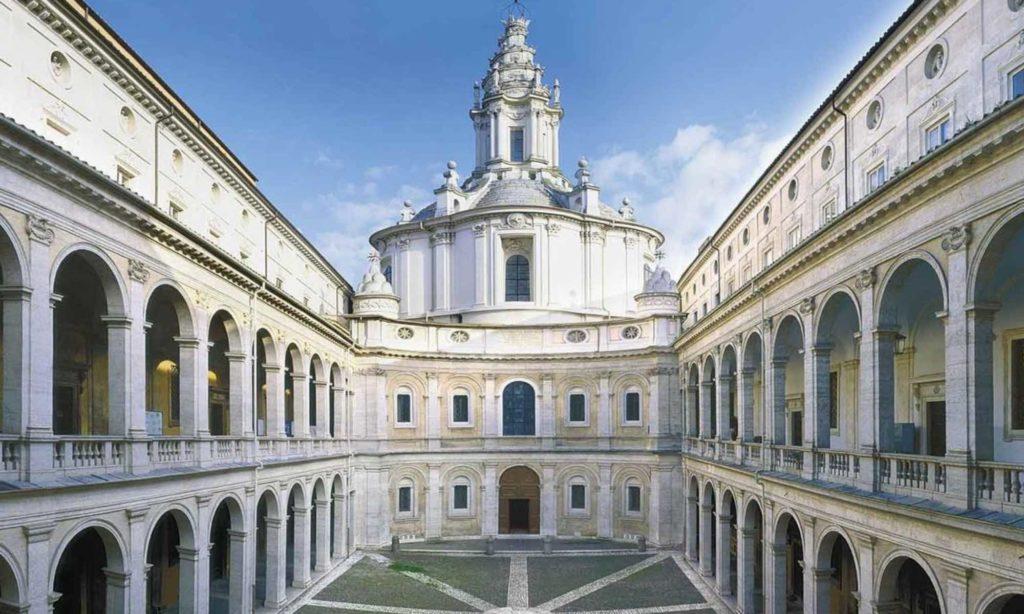 Cortile del Palazzo della Sapienza a Roma