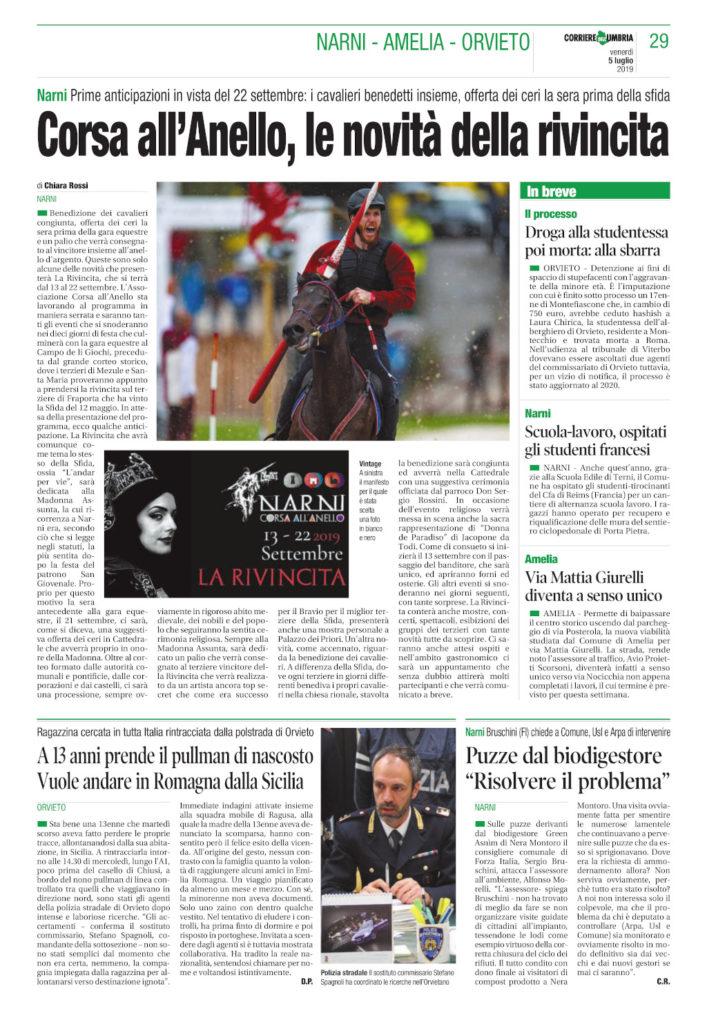 Corriere Umbria 05.07.2019