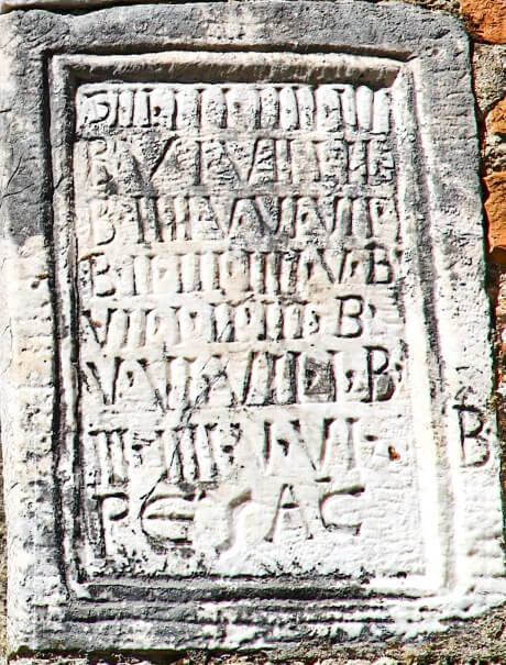 Chiesa di Santa Pudenziana - dettaglio calendario Pasquale perpetuo